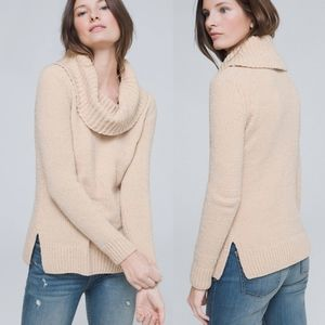 WHBM Cream Shimmering Chenille Sweater